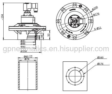 CA-89MM AC220V MM series pulse valve