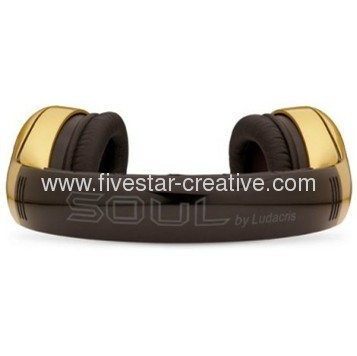 Soul by Ludacris SL300 High Definition Noise Canceling Headphones Gold