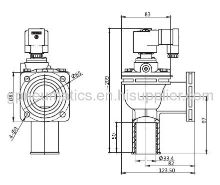 CA-25FS 1flange type pulse valve