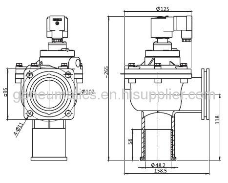 CA-45FS 1.5flange type pulse valve