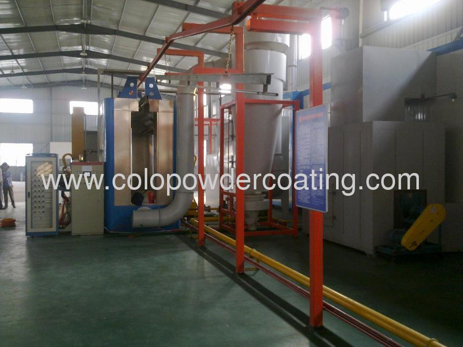 automatic powder coating line with Twin Hawk
