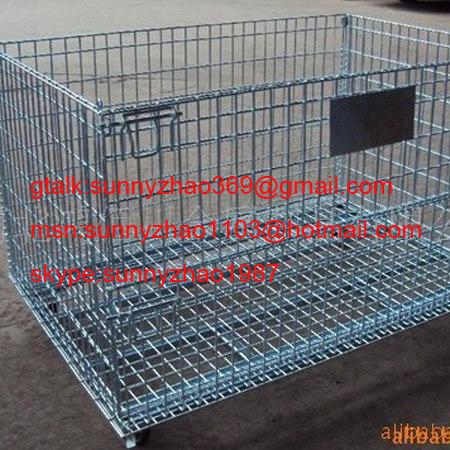 Gavanized Folding Wire Mesh Pallet&Storage Cage