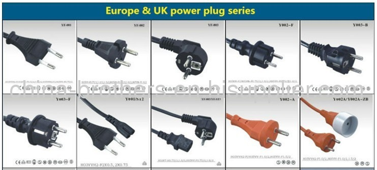 Switzerland Electrical cord Power cord plug also for israel
