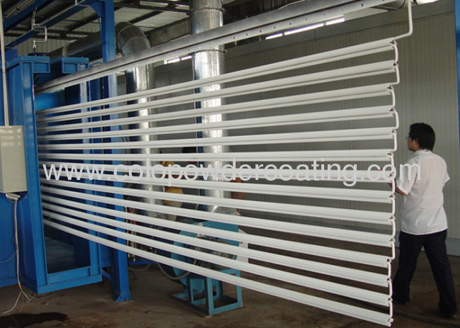 Aluminium powder coating plant High-efficiency powder recycleLow energy consumption Convenient color change