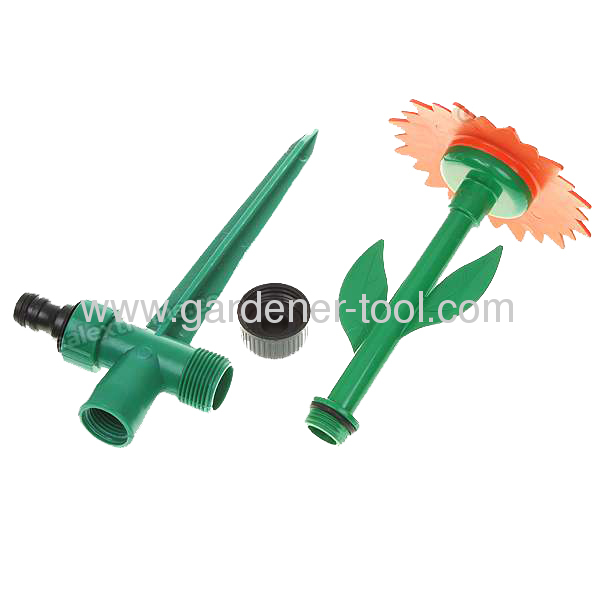 Daisy Flower Sprinkler With double color at the head yard sprinkler water sprinkler plastic garden sprinkler