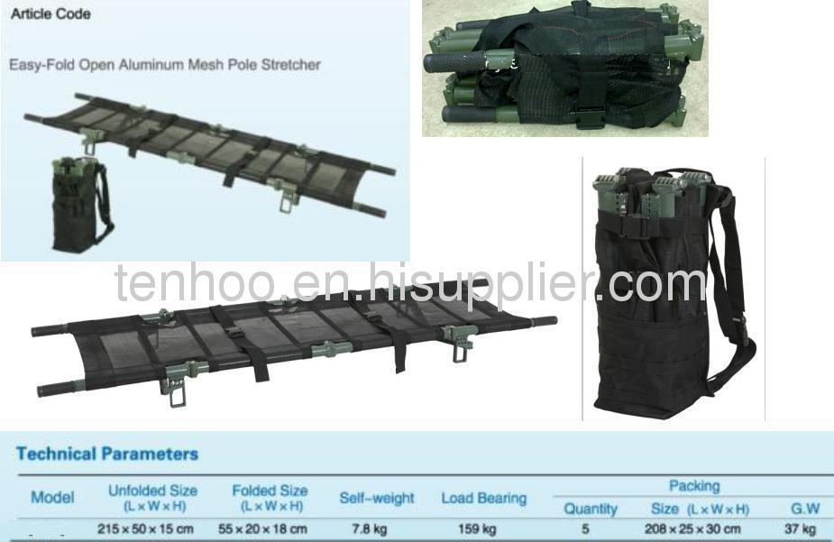 Portable Folding Mesh Pole Stretchers