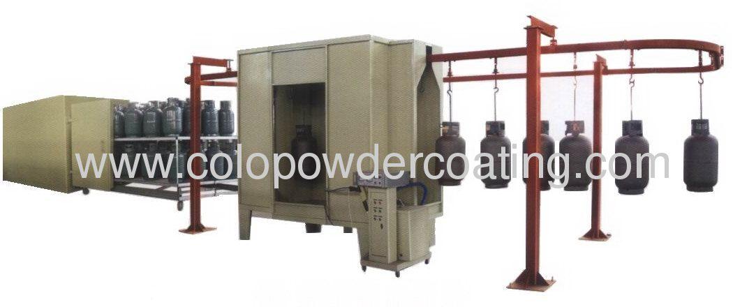 Conveyorised Semi-Automatic Gas Tank Powder Coating line
