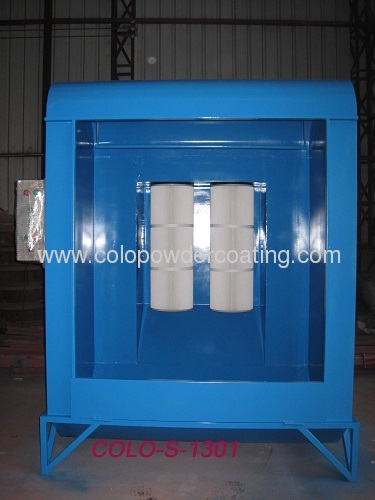 electrostatic powder coating booth
