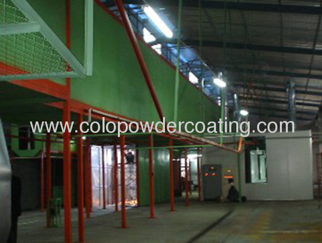 automatic powder painting linepowder painting lineElectrostatic Spraying Process