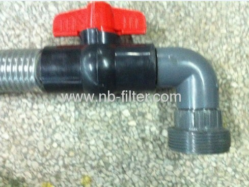 PP Electroplating filter outlet pipe