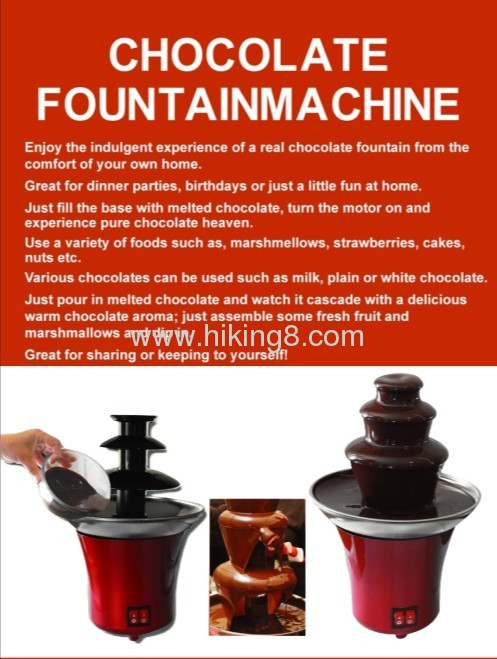 Mini 3-Tier home Chocolate Fountain