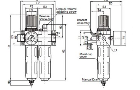 air control units zinc alloytwo combinations FESTON FRL OU 02Series