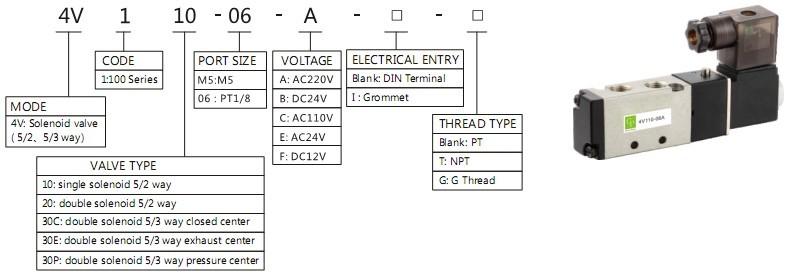 4v airtec pneumatic solenoid valve