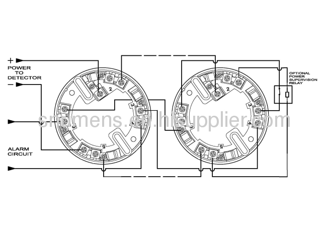 4 wire relay output function conventional smoke detector from china manufacturer