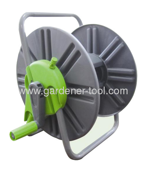 Plastic Protable Water Hose Reel With 60M 13MM PVC Garden Hose Capacity