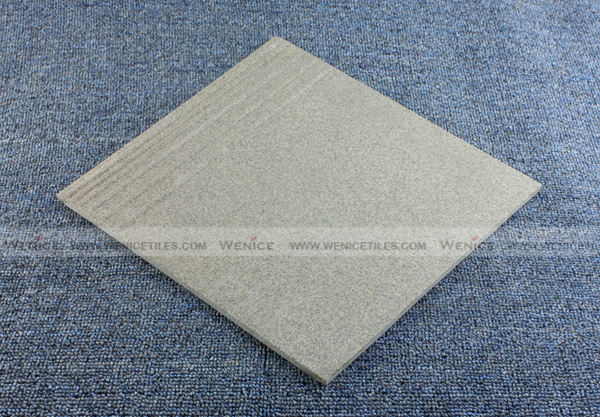 unglazed grey stairs step tiles -04