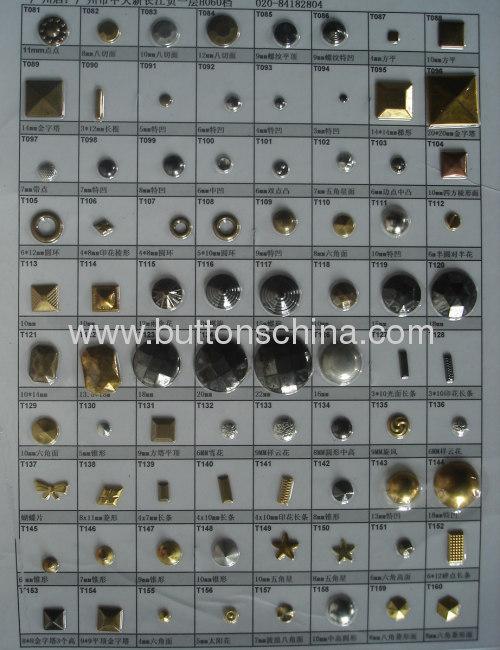 Round metal hot fix studs