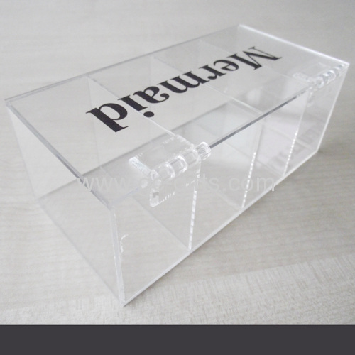 4-compartment clear acrylic box