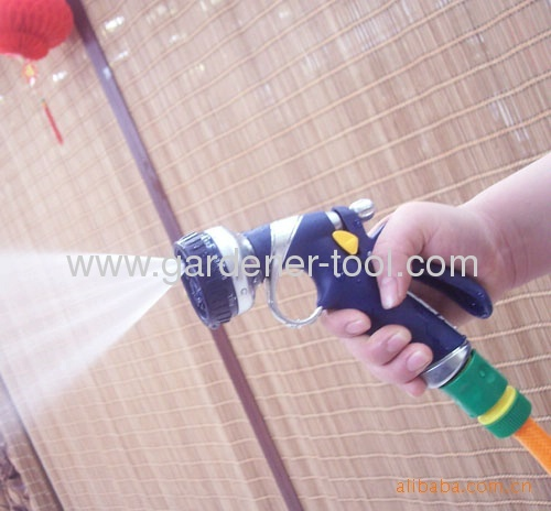 Zinc 8-dial function lawn irrigation nozzle with soft hand