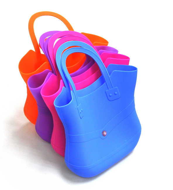 ECO-Friendly Silicone Shopping Bags in Fashion shape