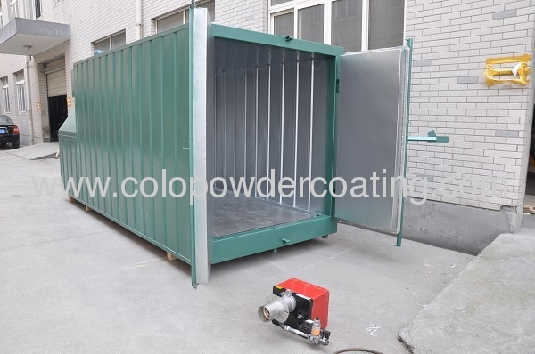 electrostatic powder coating cure oven