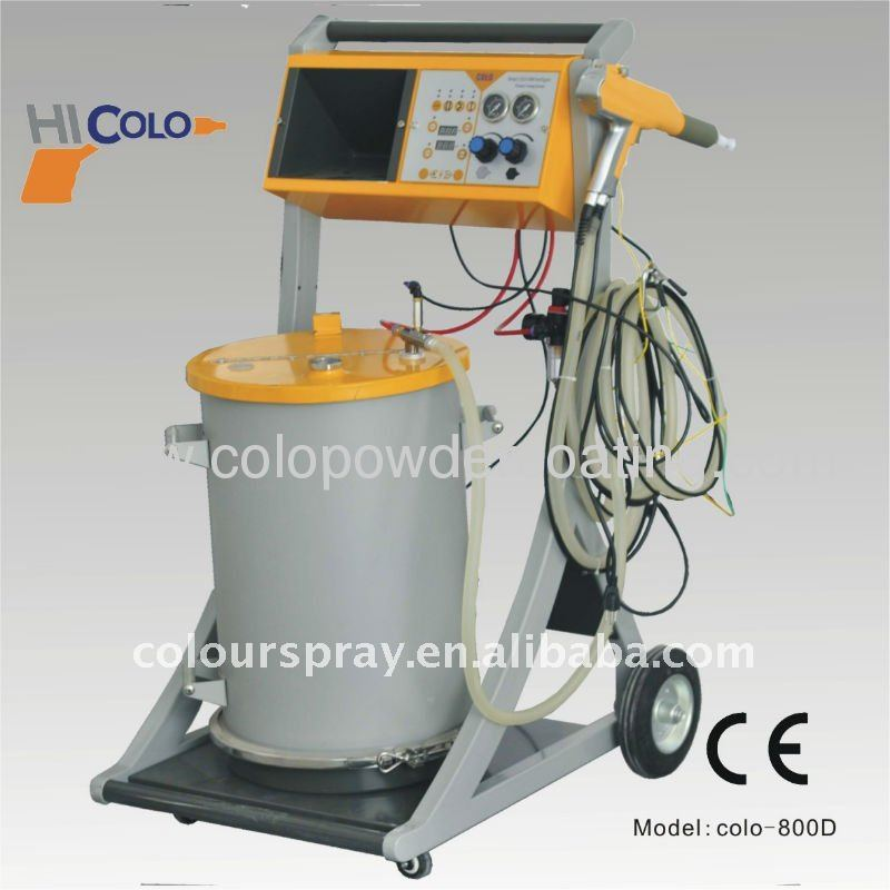 frame powder coating unit
