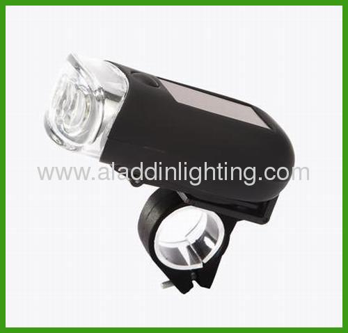 Solar Dynamo powered LED bike light