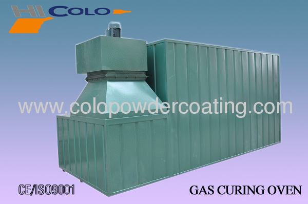 dry powder coating spray industrial oven
