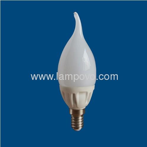 400LM E14 4W F37 Ceramic Housing and Glass Cover LED Bulb