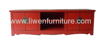 Antique Tv cabinet red