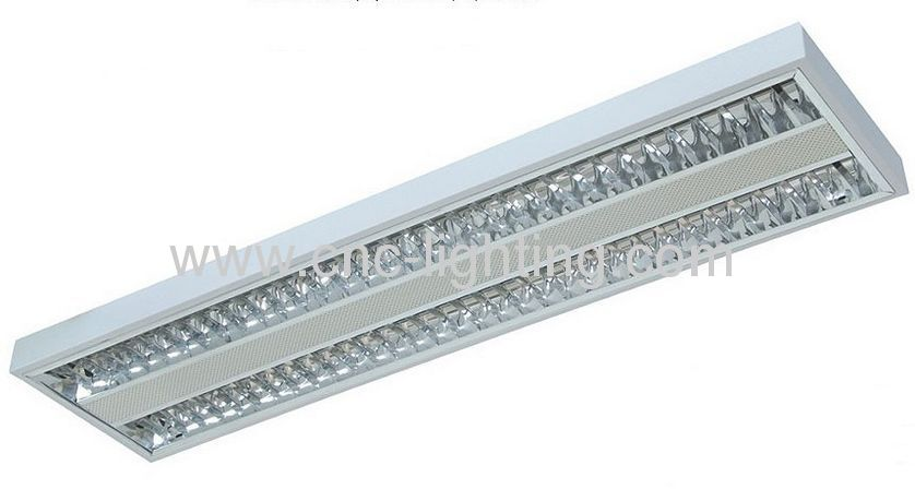 surface mounted t5 ceiling grill light fixture - T5 Light Fixtures