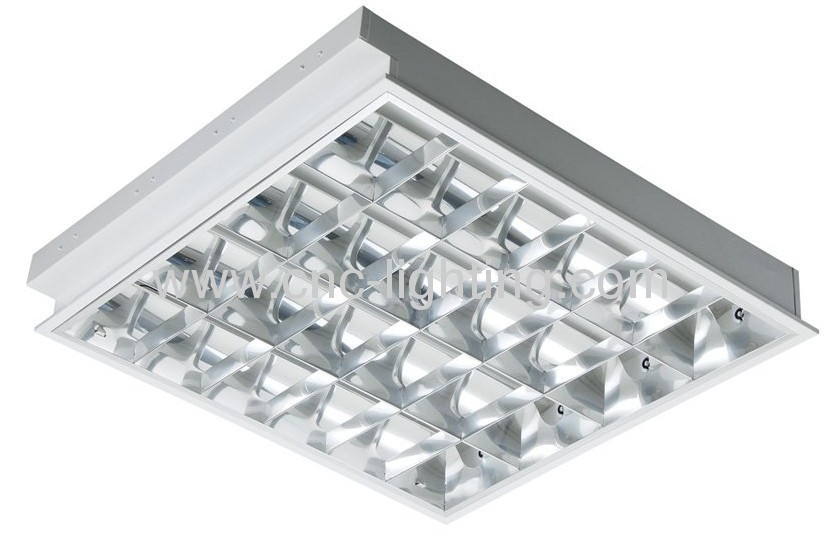 Recessed T8 Grille Light Fixture