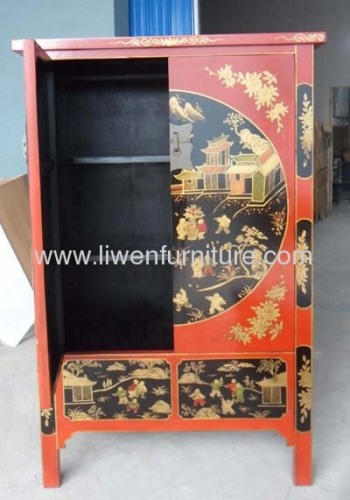 Antique painted Shanxi cabinet