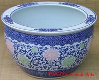 blue and white porcelain flower pot