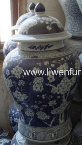 Blue and White porcelain table vase pottery