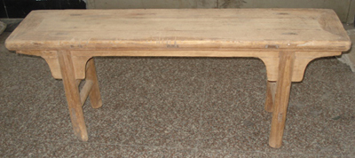 Chinese old elm wood bench