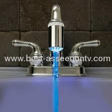 Led discoloration faucet heterochrosis 3 temperature control led faucet color light is 3