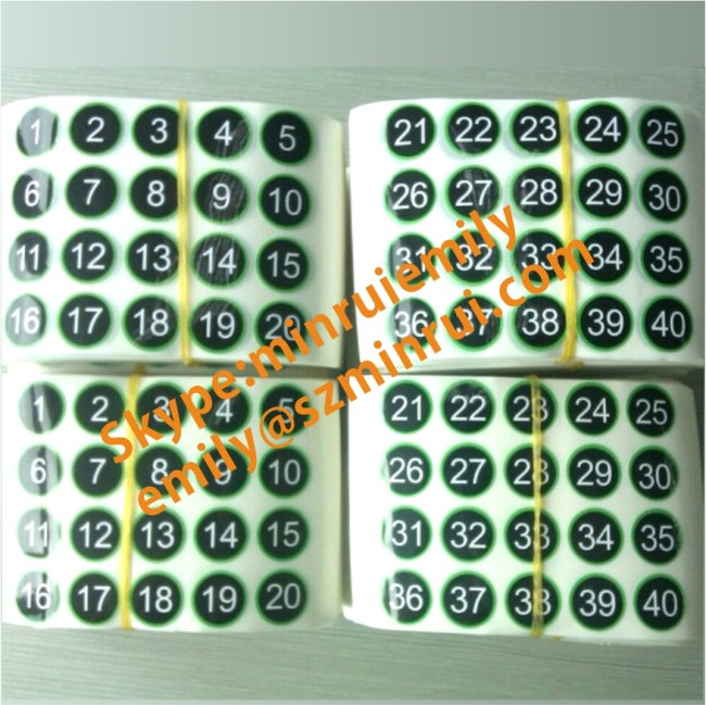 Custom gloss number sticker labelsround numbered stickersnumbered stickers
