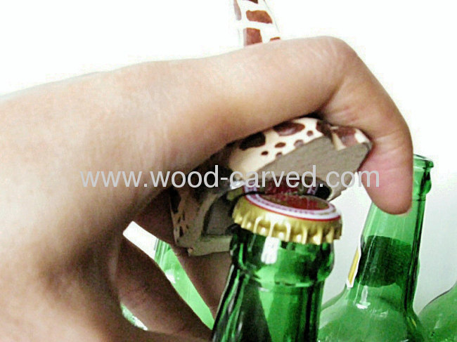 Hidden type Animal Carved Bottle Opener