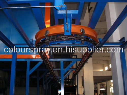 Chair powder coating production lines