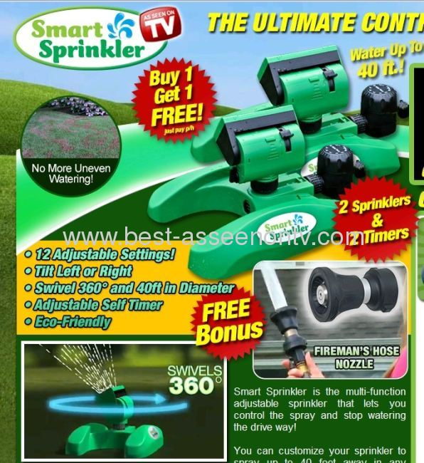 Smart Sprinkler/garden tool as seen on tv