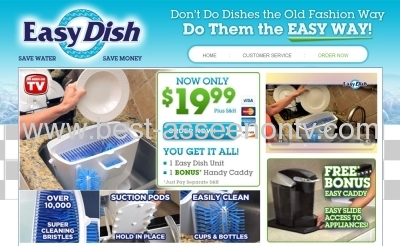 easy dish /KITCHEN DISH CLEANER AS SEEN ON TV