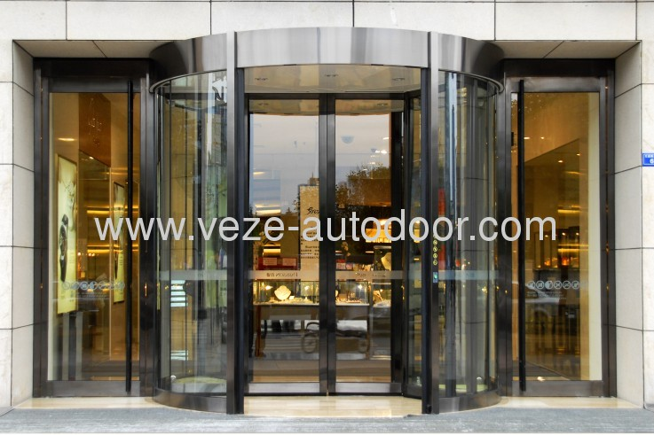 3/4 wing automatic revolving doors