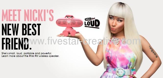 New Dr Dre Beats Pill Pink Nicki Minaj Limited Edition Bluetooth Mini Speaker