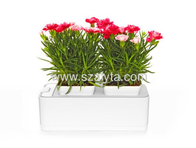 Hot selling flowerpot 2012 grow light hydroponic wholesale mini smart garden