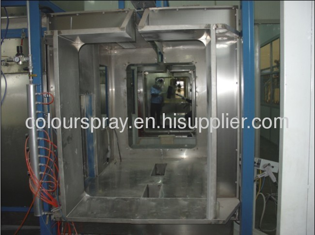 Paint Spray Booths for semi-automatic powder painting line