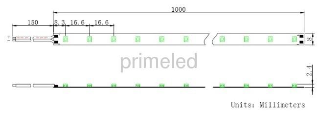 60LED/M Red 3528 smd LED strip lights