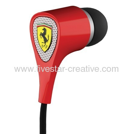 Scuderia Ferrari S100 Audio 1 Button Earphones Red