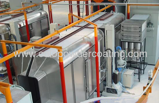 conveyor system powder coating line