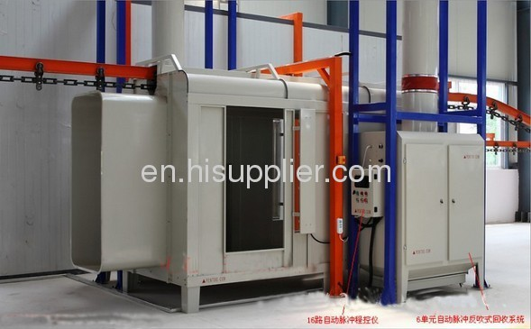 China Manual China Automatic Electrostatic Powder Spray Booth Painting Equipment suppliers